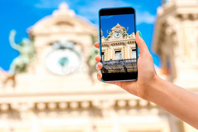 Casino à Monte Carlo images libres de droits
