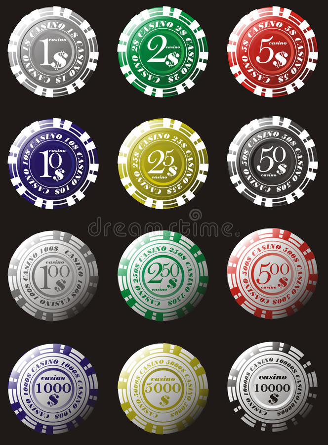 Casino. Illustration playing chips casino royalty free illustration
