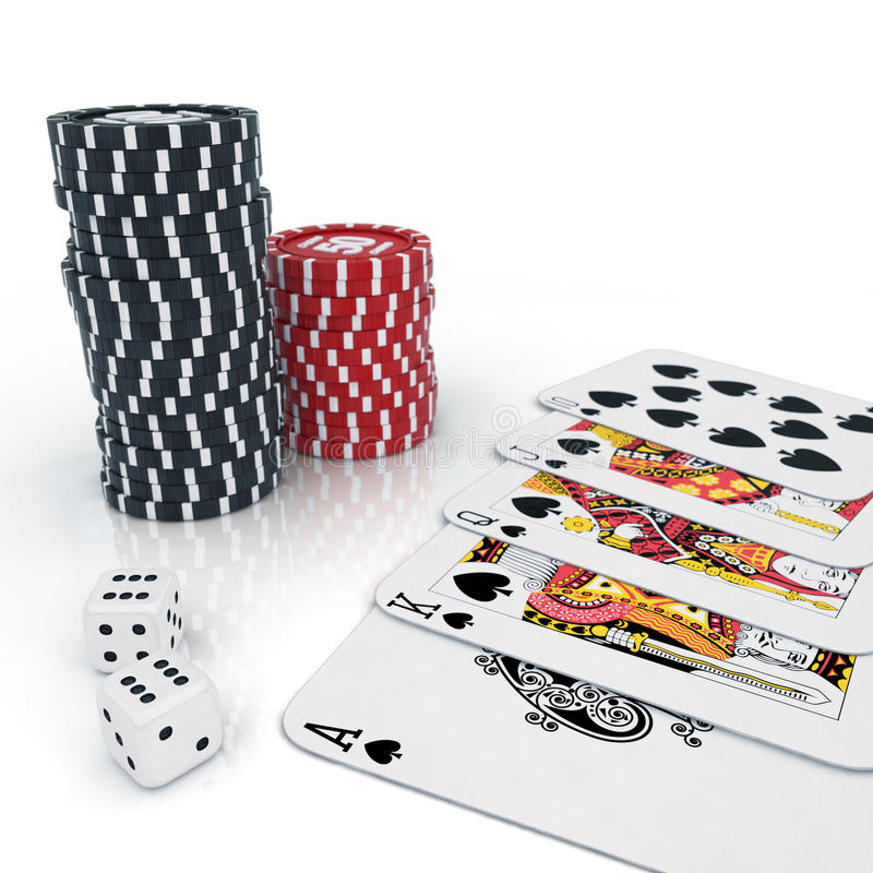 Download Casino stock illustration. Image of dice, background - 22750065