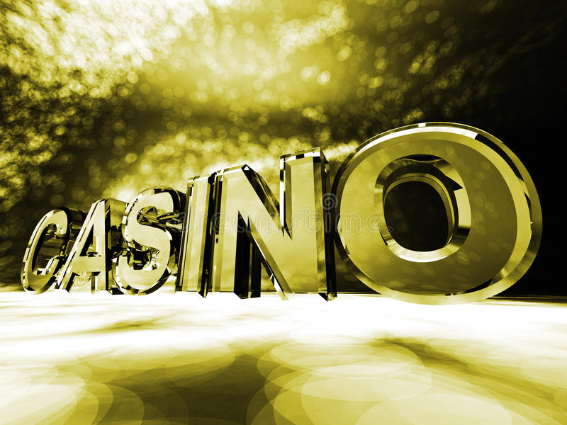 Casino. The word Casino on a colorful background royalty free stock photos