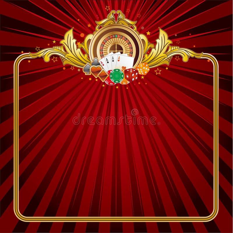 casino achtergrond stock illustratie