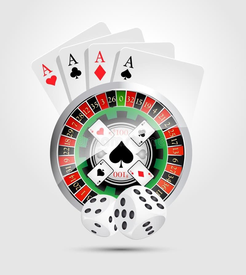 Casino - al winnaar van casinospelen stock illustratie