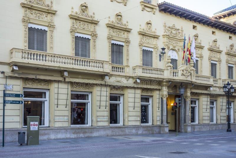 Casino antigo da construção de Castellon, Espanha imagem de stock royalty free