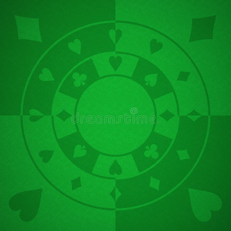 Casino background. With green baize stock illustration