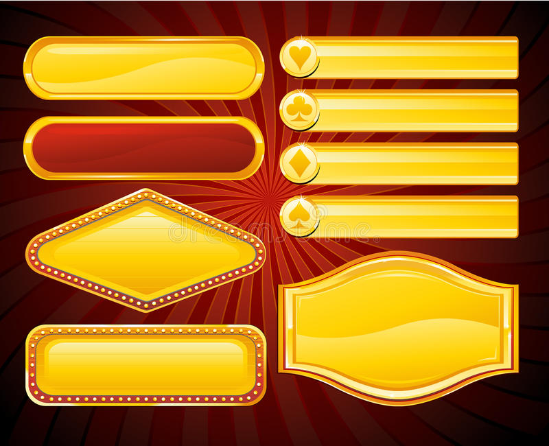 Casino banner sign royalty free illustration