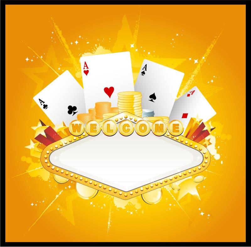 Casino banner sign vector illustration