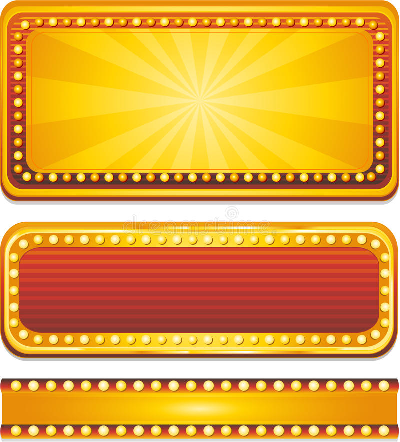 Download Casino banners stock vector. Illustration of glowing - 15164936