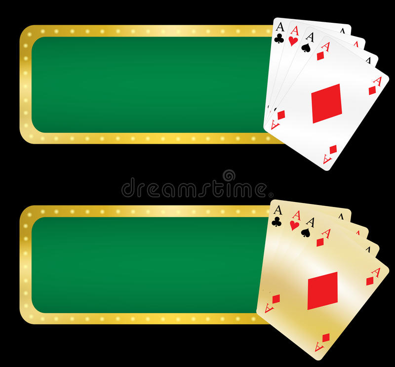 Casino banners royalty free stock photos