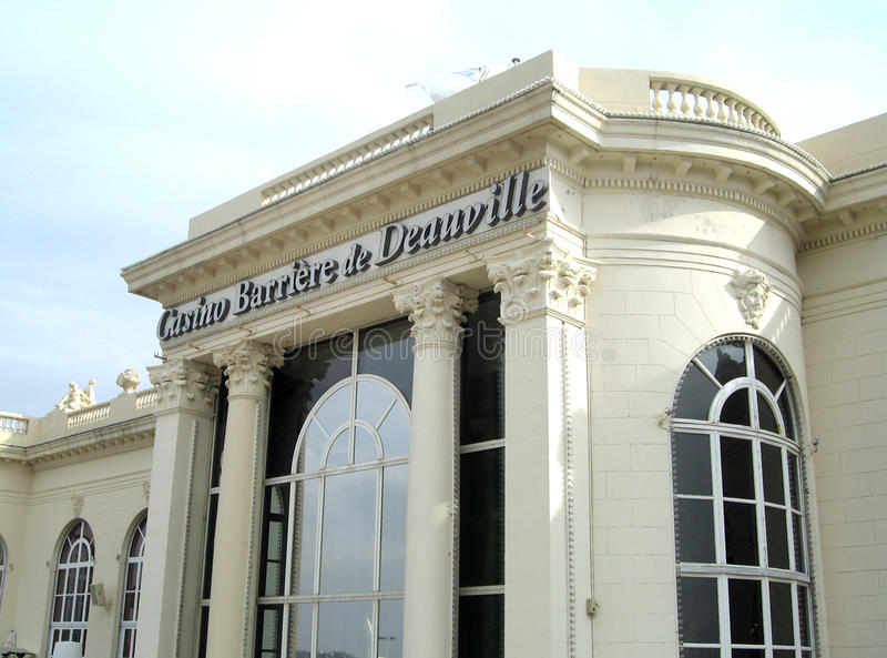 Casino Barriere Deauville. The front side of the Casino Barriere in Deauville in Normandy in France stock photography