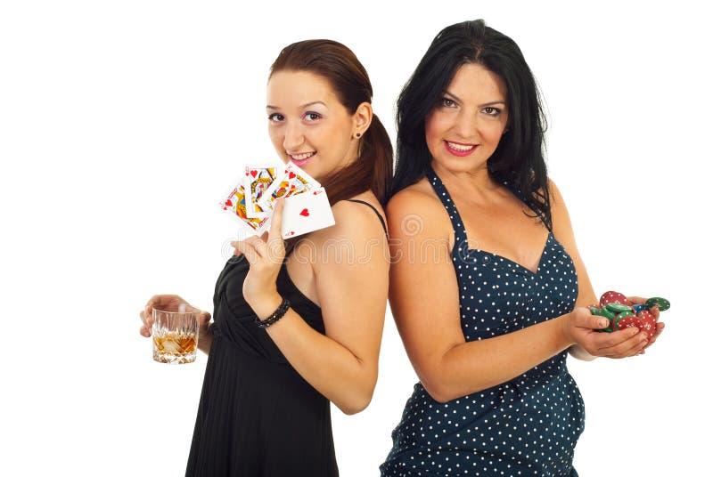 Casino beautiful women stock image