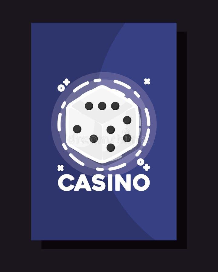 Casino blanc de jeu de cadre de matrices illustration de vecteur