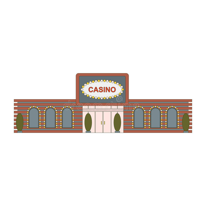 Casino building element for game, mobile app or web ui design. The facade of the main entrance to the building casino royalty free illustration