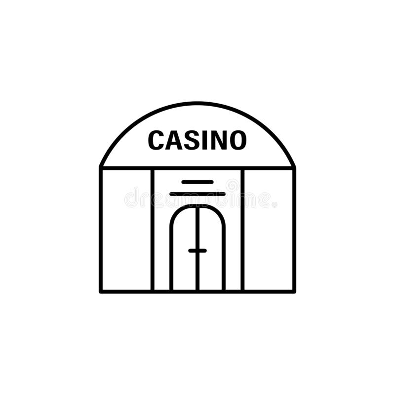 Casino, building icon. Element of casino icon. On white background stock illustration