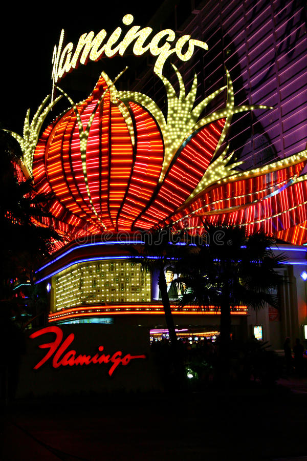 Casino célèbre de flamant - Las Vegas photo libre de droits