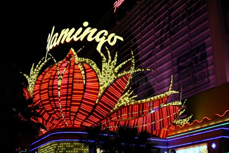 Casino célèbre de flamant - Las Vegas image libre de droits