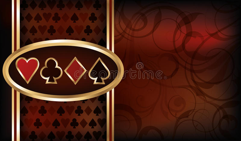 Casino card royalty free illustration