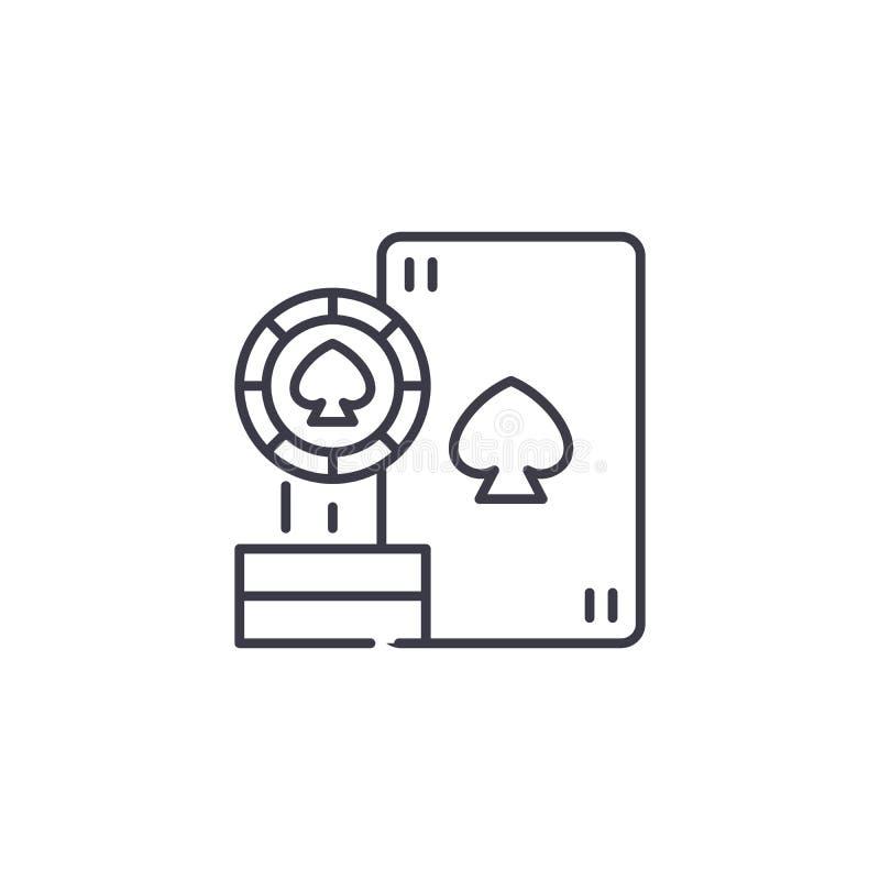 Casino card games linear icon concept. Casino card games line vector sign, symbol, illustration. vector illustration