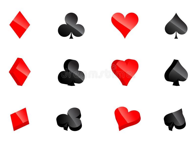 Download Casino card symbols stock vector. Image of gambler, gamble - 9259946