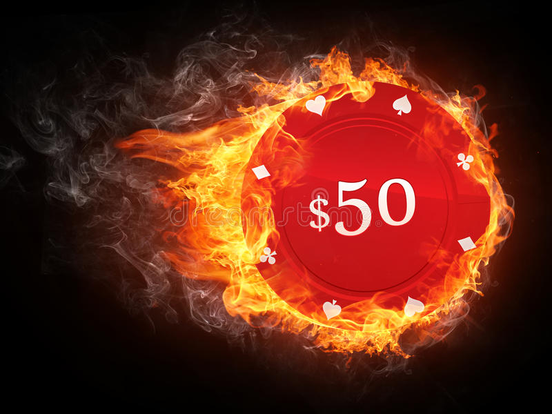 Casino Chip royalty free illustration