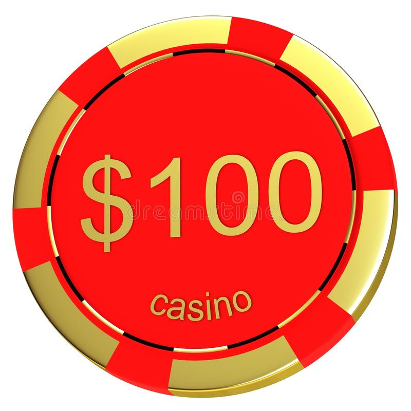Casino chip. On a white background stock illustration
