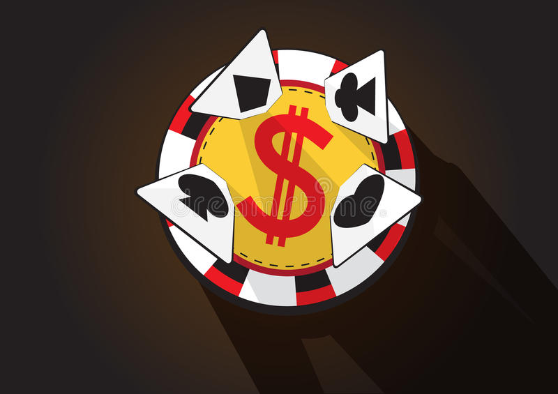 Casino chip and cards vector stock images