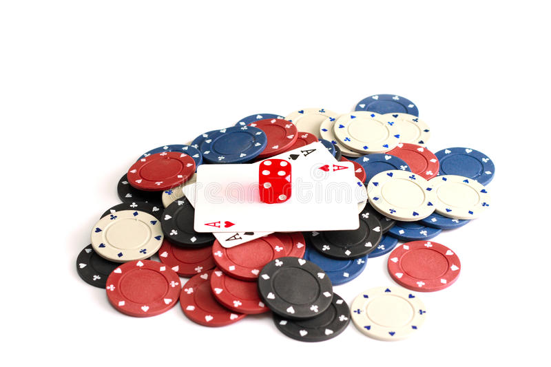 Download Casino chips stock image. Image of coin, clubs, aces - 12342637