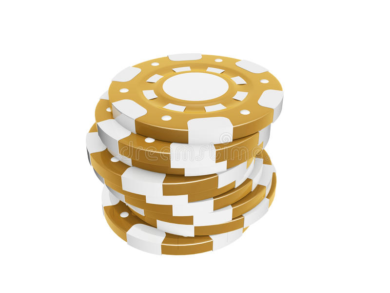 Casino chips. Stack isolated on white background royalty free illustration
