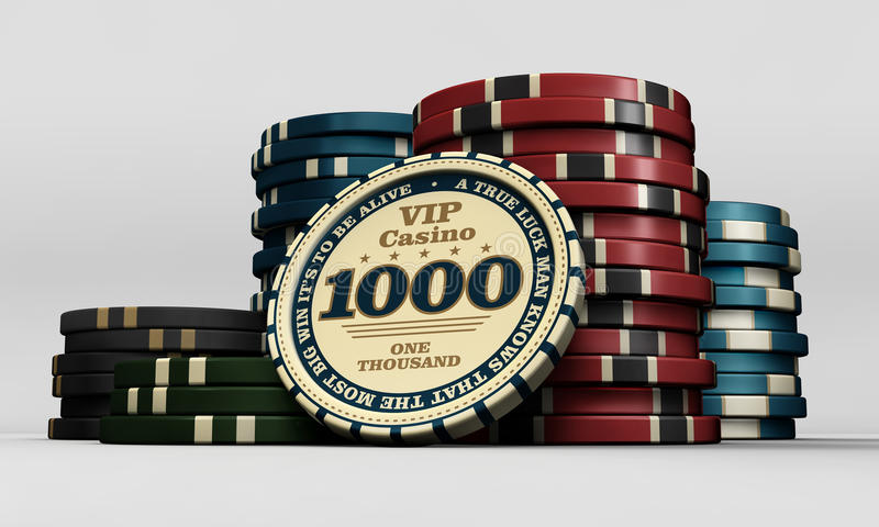 Casino chips. Of multiple values