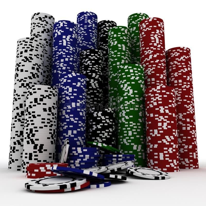 Casino chips. On the white stock illustration