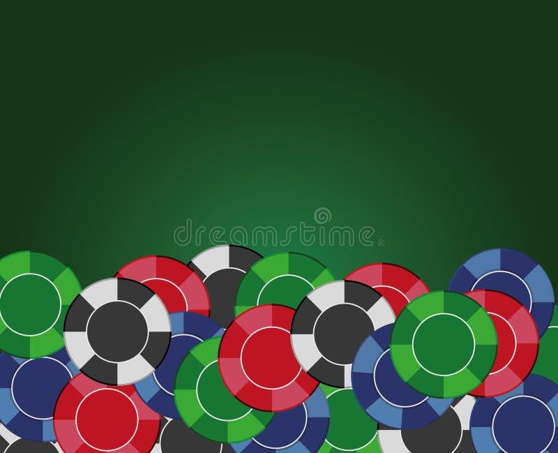 Casino chips background. Vector illustration stock illustration