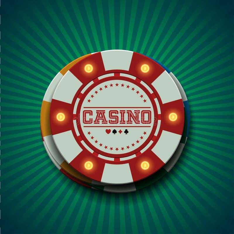 Casino chips. Banner in vector vector illustration