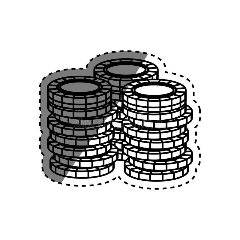 Casino chips concept. Icon illustration graphic design stock illustration