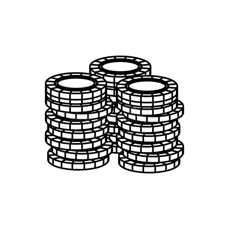 Casino chips concept. Icon vector illustration graphic design stock illustration