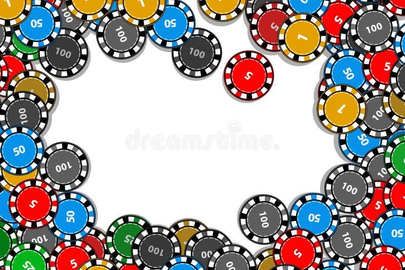 Casino chips frame. Illustration to use for printing, website, smart phone, wallpaper, decoration, decorations etc vector illustration