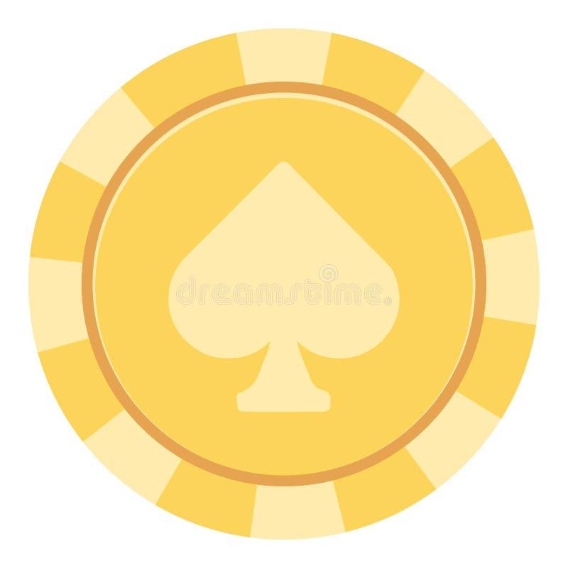 Casino chips icon, flat style. Casino chips icon. Flat illustration of casino chips vector icon for web stock illustration
