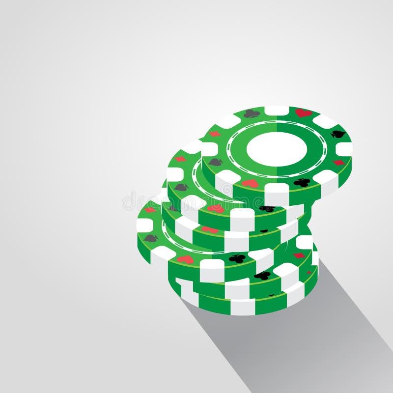 Casino Chips Pile Background, ejemplo del vector libre illustration