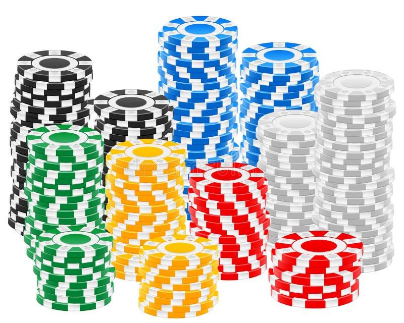 Casino chips stack stock illustration