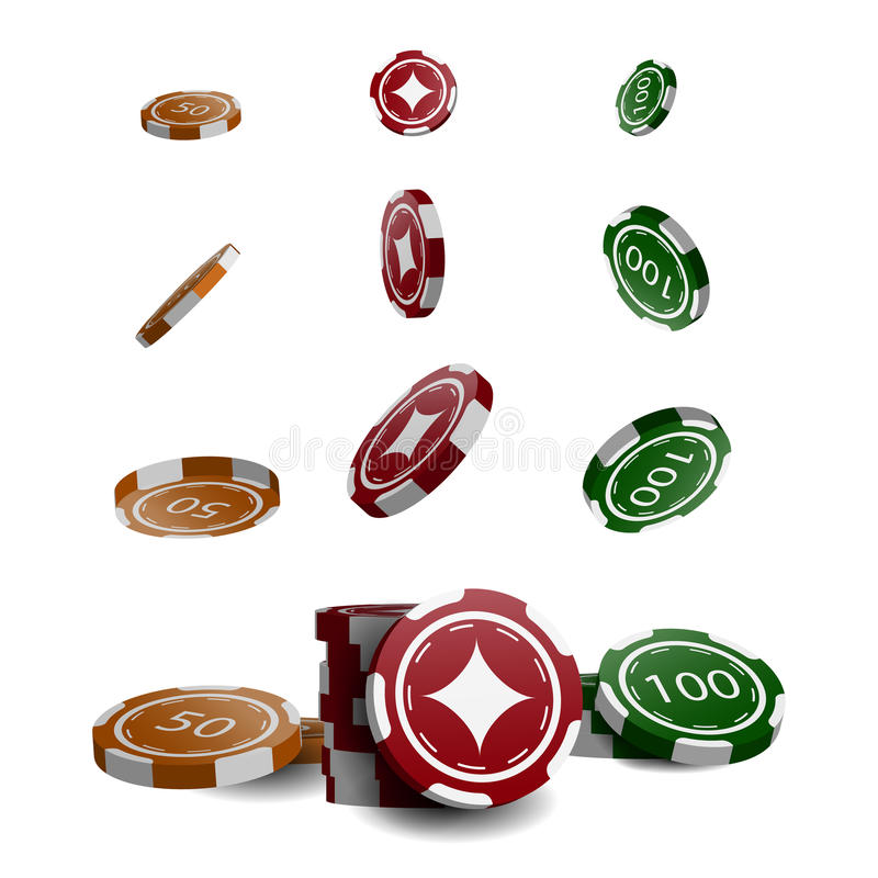 Casino chips stacks. Vector. A set of casino chips royalty free illustration