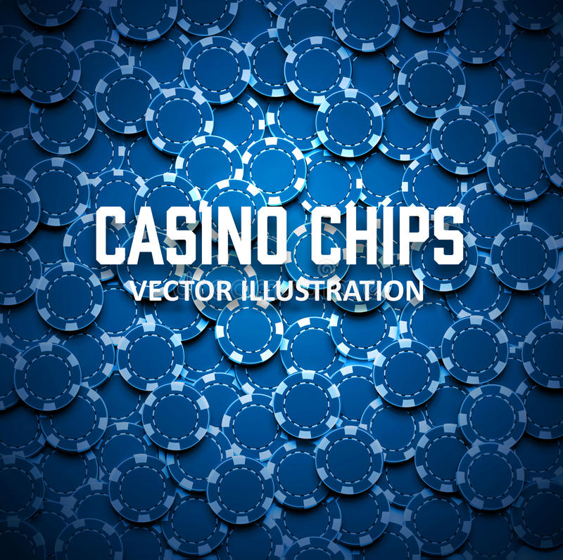 Casino chips top view with shadows stock illustration