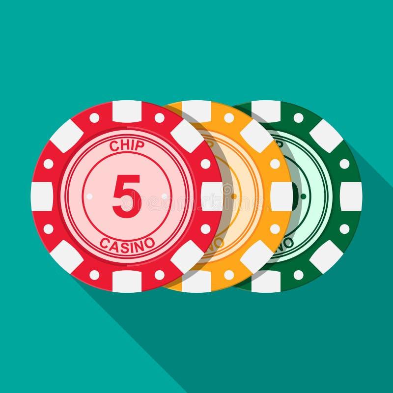 Casino chips. Casino chips vector flat design stock illustration