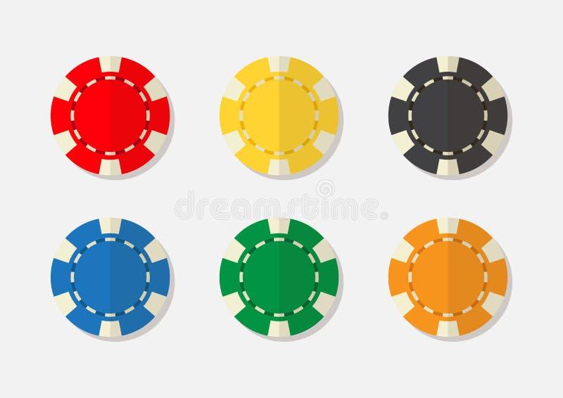 Casino chips vector illustraion. Casino chips vector illustration graphic vector illustration