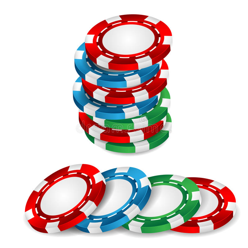 Casino chips. On a white background royalty free illustration