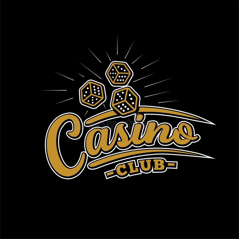 Casino club design template. Casino vector and illustration. Casino club design template. Casino t-shirt and apparel design, typography, print, logo, poster vector illustration