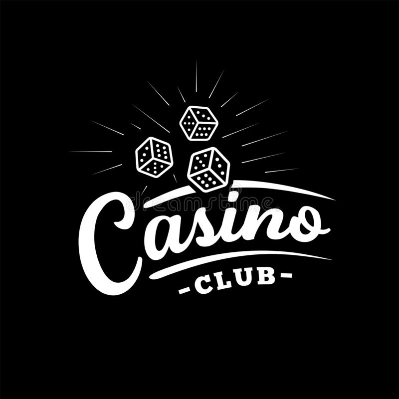 Casino club design template. Casino vector and illustration. Casino club design template. Casino t-shirt and apparel design, typography, print, logo, poster stock illustration