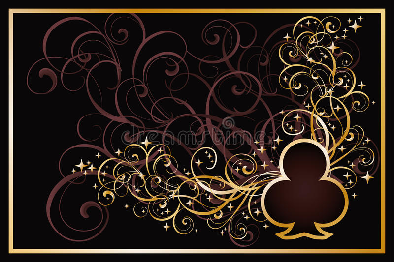 Casino clubs golden card royalty free illustration