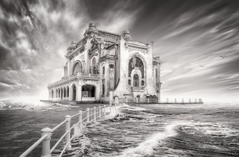 Casino in constanta, romania. Picture of the old casino in constanta royalty free stock photos