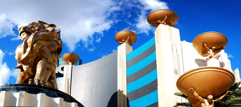 Casino d'hôtel de Mgm Grand, Las Vegas. images libres de droits