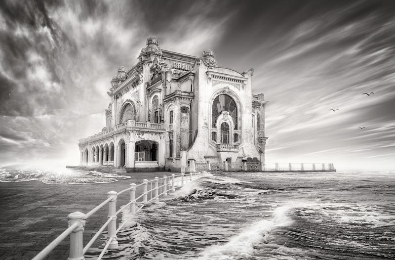 Casino dans le constanta, Roumanie photos libres de droits