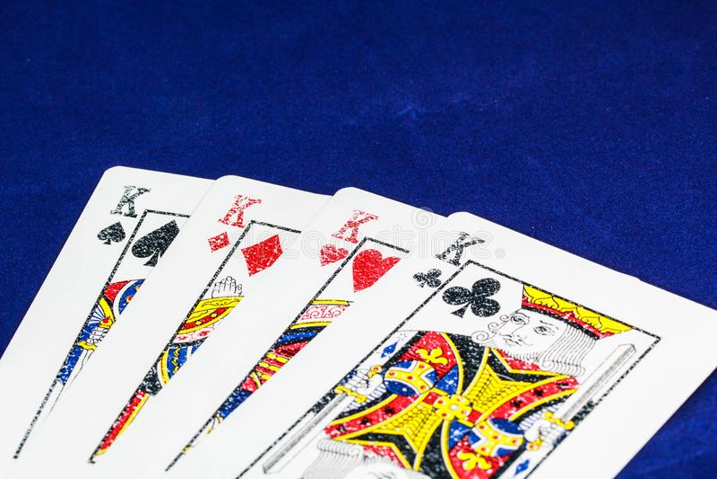 Casino de carte image stock