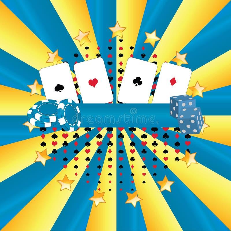 Casino de drapeau images libres de droits